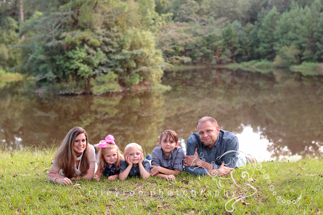 Dad, Mom, three children